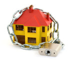home security concept studio isolated