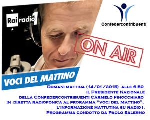 diretta radio1 Presidente Finocchiaro