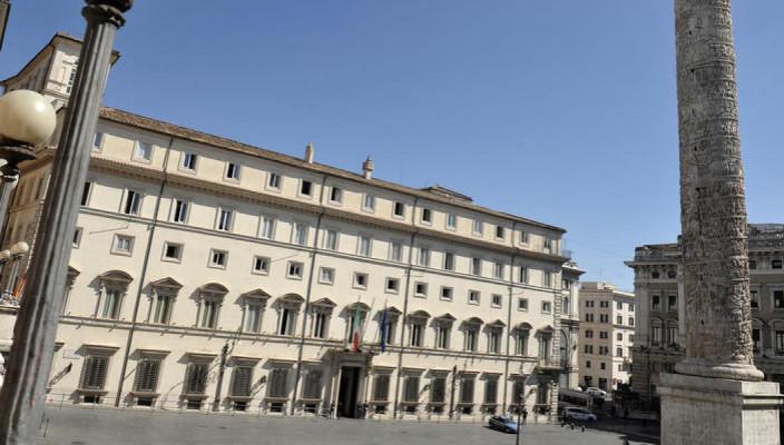 25/05/2015 Roma, piazza Colonna, Palazzo Chigi sede del Governo italiano