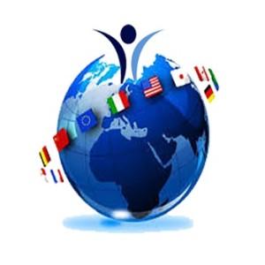 mappa mondo con logo